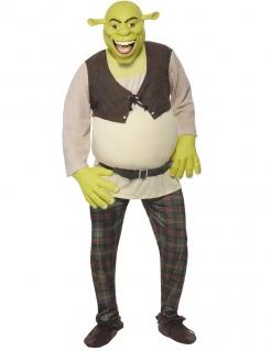 Shrek™-Herrenkostüm Lizenzartikel beige-grün