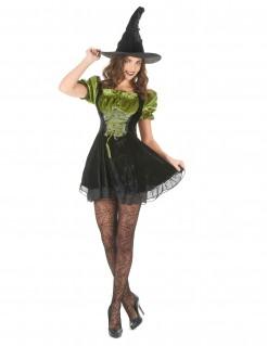 Verführerische Hexe Damenkostüm Zauberin schwarz-grün