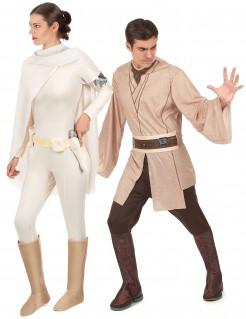 Star Wars™ Paarkostüm Jedi und Padme Amidala Lizenzware beige-braun