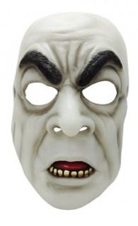 Nachtleuchtender Ghoul Halloween-Maske weiss