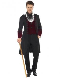 Gothic Edelmann Vampirkostüm schwarz-bordeaux