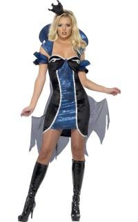 Böse Königin der Nacht Halloween Kostüm für Damen schwarz-blau
