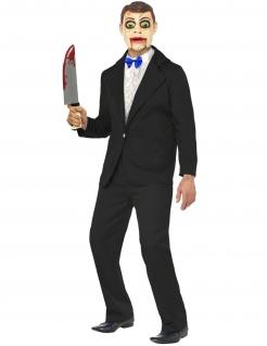 Killer Bauchrednerpuppe Funhouse Halloween Kostüm schwarz