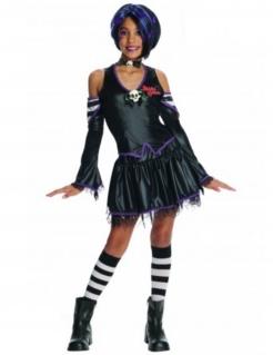 Gothic Vampirin Halloween-Kinderkostüm schwarz-lila