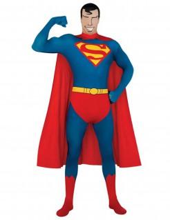 Superman™ Second Skin Ganzkörperanzug Lizenzware blau-rot