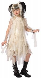 Kleine Mumie Halloween Kostüm für Kinder beige