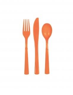 Kunstoff Besteck-Set 18-teilig orange
