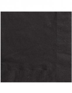 Servietten Halloween Party-Deko 20 Stück schwarz 33x33cm