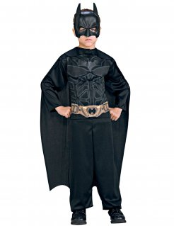 The Dark Knight™ Batman™-Kinderkostüm Lizenzartikel schwarz