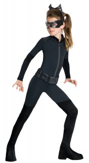 Catwoman™-Kinderkostüm schwarz
