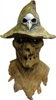 Vogelscheuche Maske mit Brustteil Halloween Kostümaccessoire braun