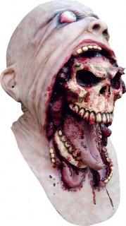 Hervorbrechender Totenschädel Blutige Horrormaske hautfarben-beige-rot