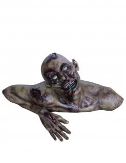 Zombie Torso Raumdekoration Halloween grau-rot 66 x 30 cm