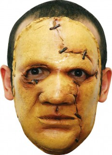 Verrückter Serienkiller Halloweenmaske gelb