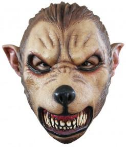 Fieser Wolf Halloween-Maske braun-schwarz
