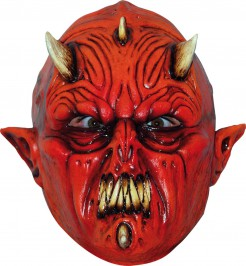 Dämon Monster Maske Halloween Kostümaccessoire rot