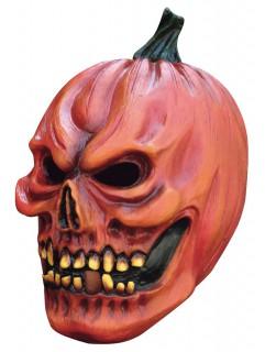 schreckliche Kürbis Maske Halloween für Erwachsene orange