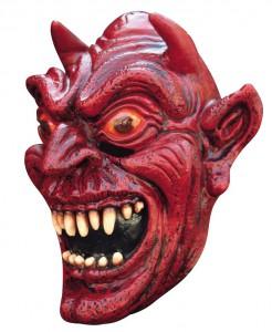 Dämon Teufels-Maske Halloween Kostümaccessoire rot