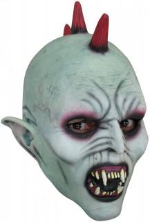 Punker-Vampirmaske Halloween-Kindermaske grau-rot