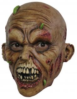 Zombie Maske für Teens  Halloween Kostümaccessoire braun-rot