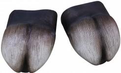 Hufe Überziehschuhe für Erwachsene grau-schwarz-weiss