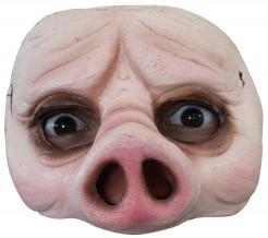Schweine-Halbmaske für Erwachsene rosa