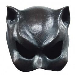 Katzen-Maske Superschurkin schwarz