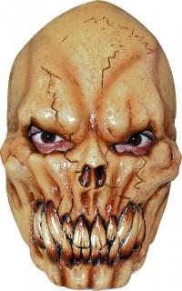 Schaurige Skelett Maske Halloween beige