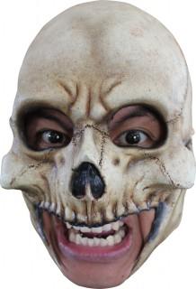 Skelett-Maske Halbmaske Halloween Kostümaccessoire beige-schwarz