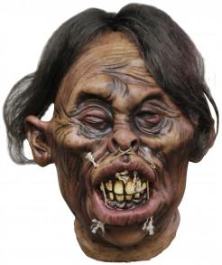 Gruseliger Voodoo-Schrumpfkopf Halloween-Hängedeko braun 20x40cm