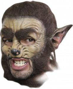 Werwolf Halloween-Maske beige-braun