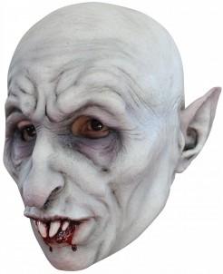 Vampir-Maske Halloween Kostümaccessoire grau