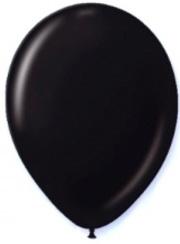 Partyballons Luftballons 12 Stück schwarz 28cm