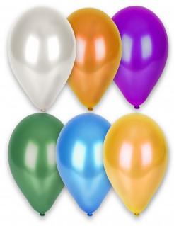 Luftballons 12 Stück metallic-bunt 28cm