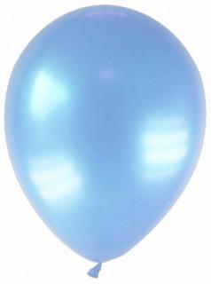 Luftballons 12 Stück metallic-hellblau 28cm