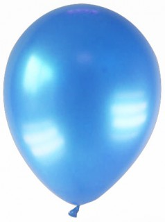 Luftballons 12 Stück metallic-blau 28cm