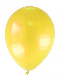 Luftballons 12 Stück metallic-gelb 28cm