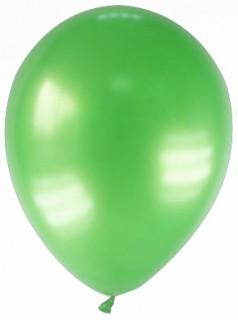 Luftballons 12 Stück metallic-hellgrün 28cm