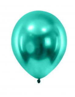 Luftballons 12 Stück metallic-grün 28cm