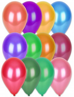 Luftballons 100 Stück metallic-bunt 29cm