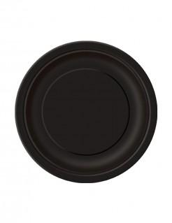 Party-Teller runde Pappteller 20 Stück schwarz 18cm