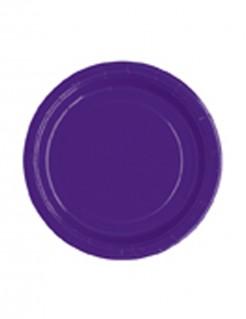 Runde Partyteller Pappteller 20 Stück violett 18cm