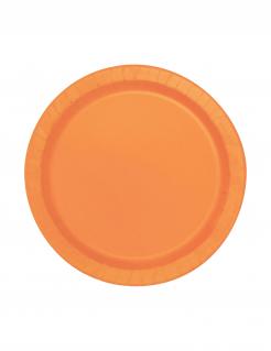 Halloween Pappteller-Set 20 Stück orange