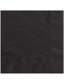 Papier Servietten Tischdeko Set 50 Stück schwarz 33x33cm