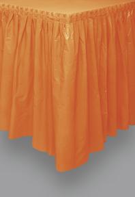 Halloween Tischdecke aus Kunststoff orange