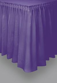 Tischrock Tischdekoration violett 73x426cm