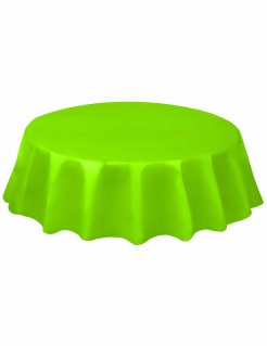 Runde Tischdecke Einweg-Tischdecke grün 213cm