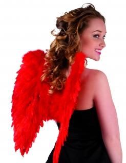 Flügel Kostümzubehör rot50 x 50 cm