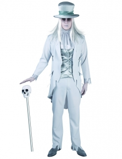 Geister-Bräutigam Herrenkostüm Halloween-Kostüm hellgrau