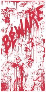 Halloween-Türposter Blutige Abdrücke rot 76x152cm